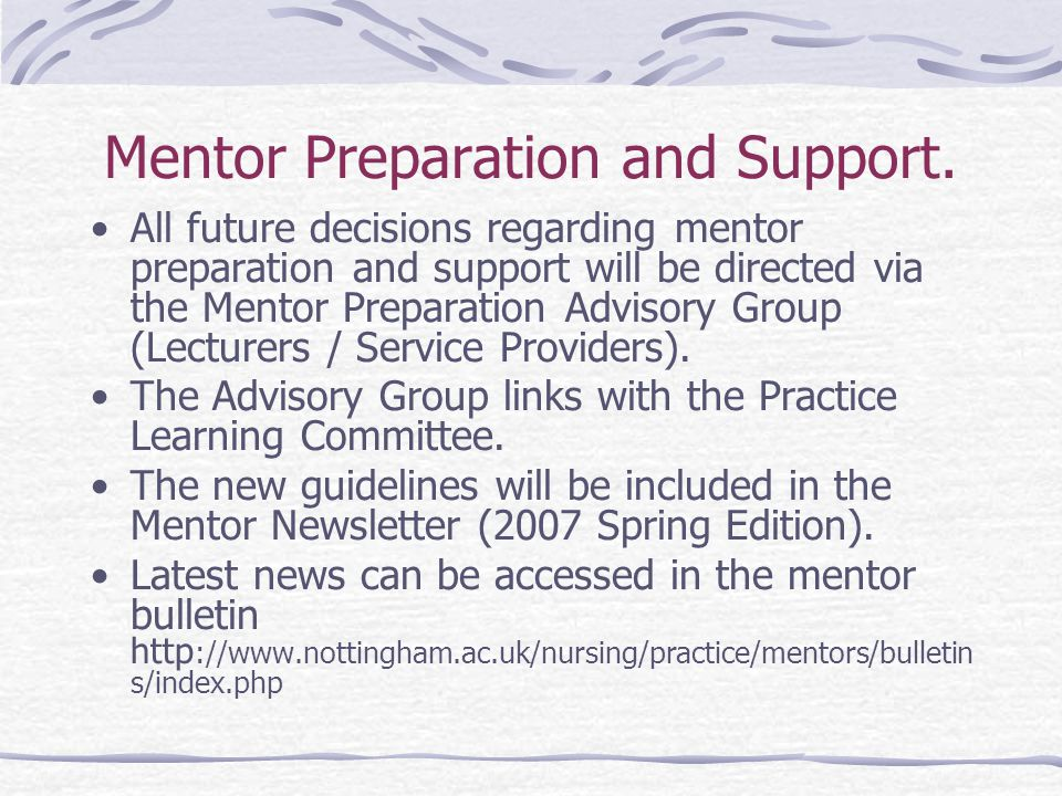 Mentor Preparation and Support.