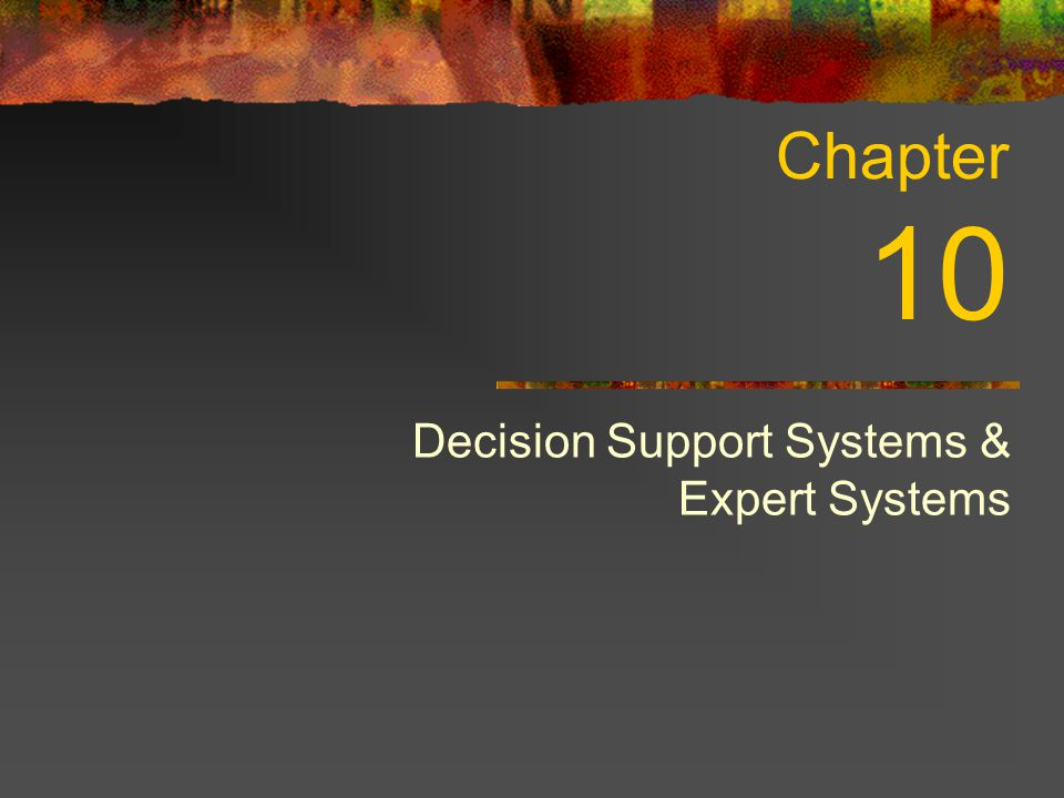 Decision Support Systems & Expert Systems Chapter 10