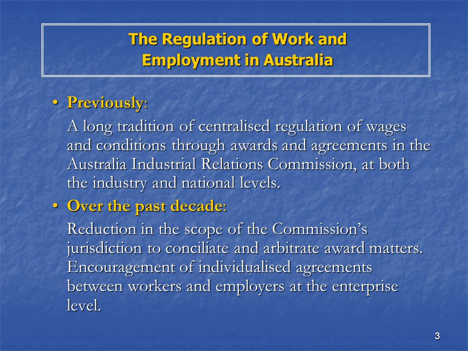 The Changing Nature Of Work And Employment Relations In Australia