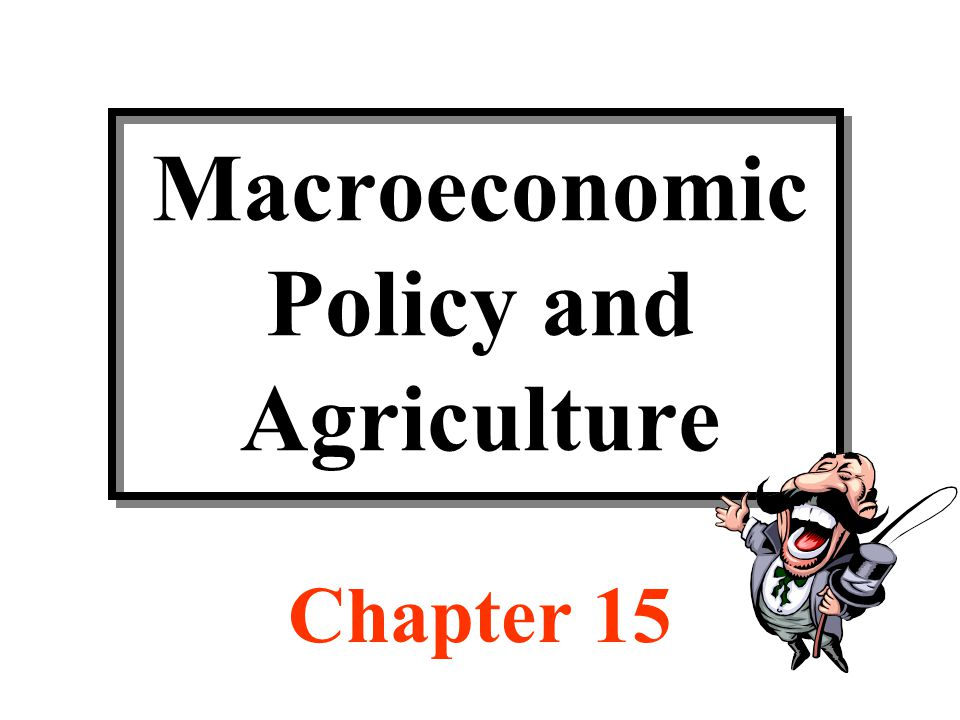 Macroeconomic Policy and Agriculture Chapter 15