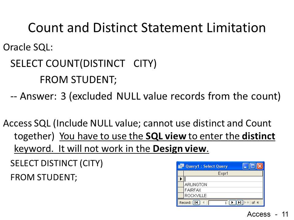 Distinct access