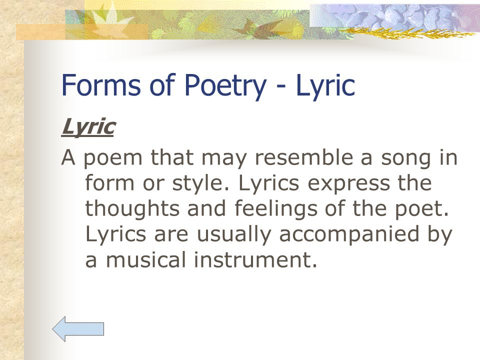 forms ofpoetry Learn rhyme schemes, structure, form, stanzas, style, rhythm, and meter, etc for all forms of poetry what is form in poetry poetic form can be defined in many ways, but it is essentially a type of poem that is defined by physical structure, rhythm, and other elements.