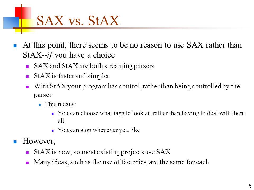 Setvalidating sax 5th