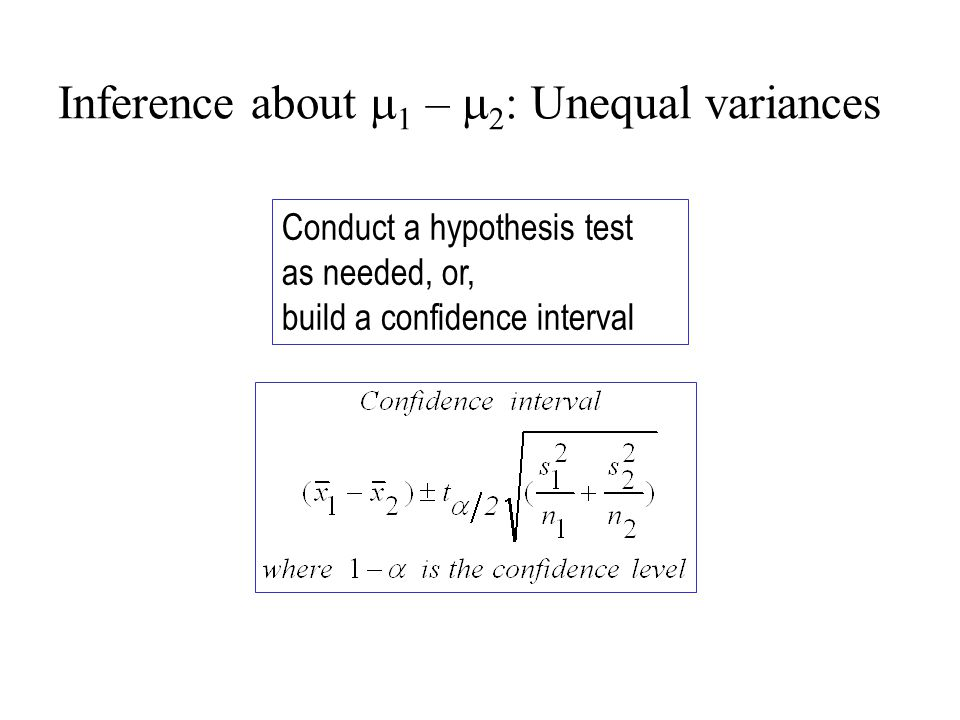 Conduct a hypothesis test as needed, or, build a confidence interval