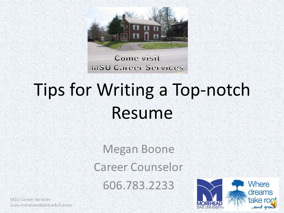 msu career services tips for writing a top notch resume megan boone