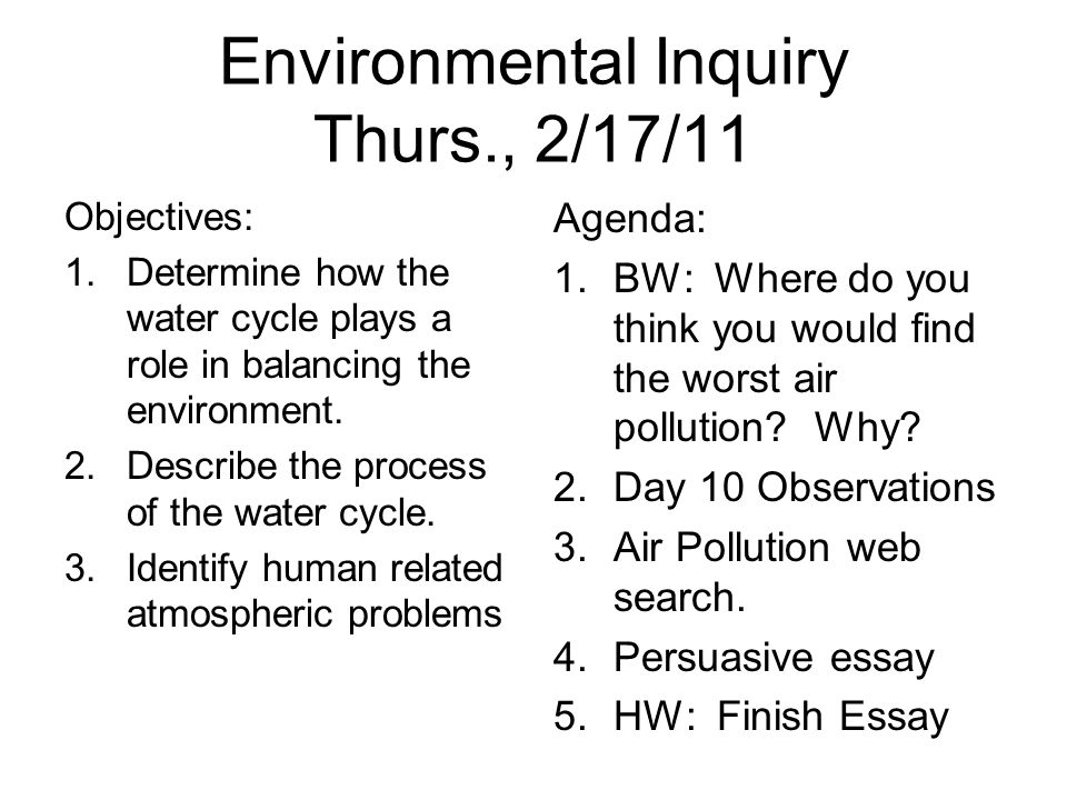 evironmentalism essay Environmental essay help the sum total of our surroundings, which is an amalgamation of the non-living and living species, is known as environment.