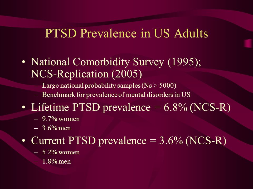 Validity is Well Established PTSD has proven to be a useful and valid diagnosis after 25 years of clinical use Although there have been minor revisions to the diagnostic criteria the core concept has withstood the test of time