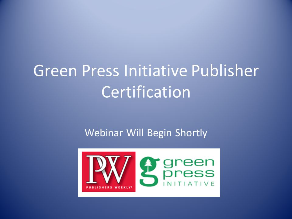 green press initiative publisher certification webinar will begin