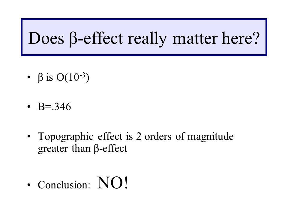 Does β-effect really matter here.