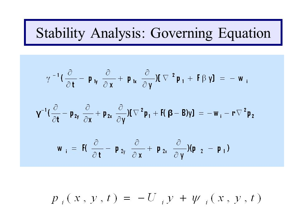 Stability Analysis: Governing Equation