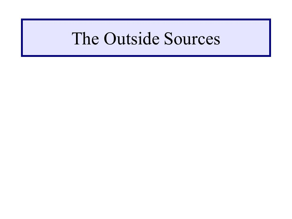 The Outside Sources
