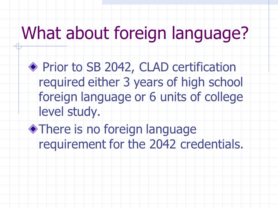 What about foreign language.