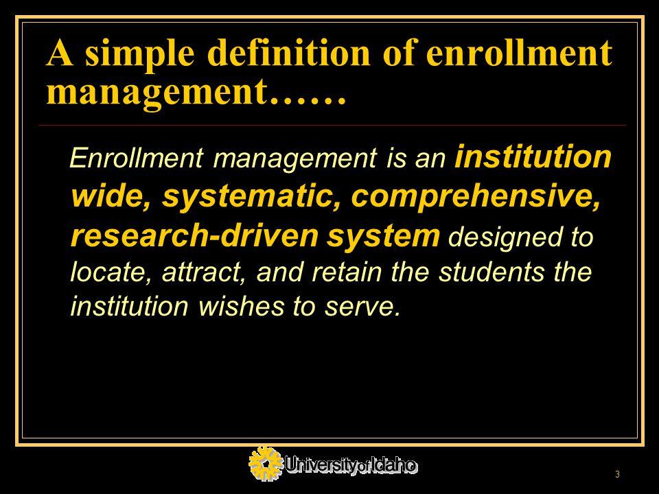 enrollment system definition