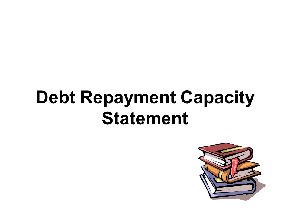 Debt Repayment Capacity Statement
