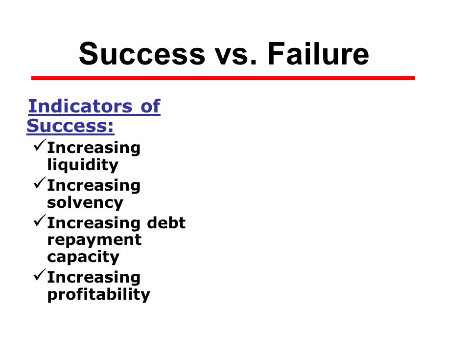 Success vs.