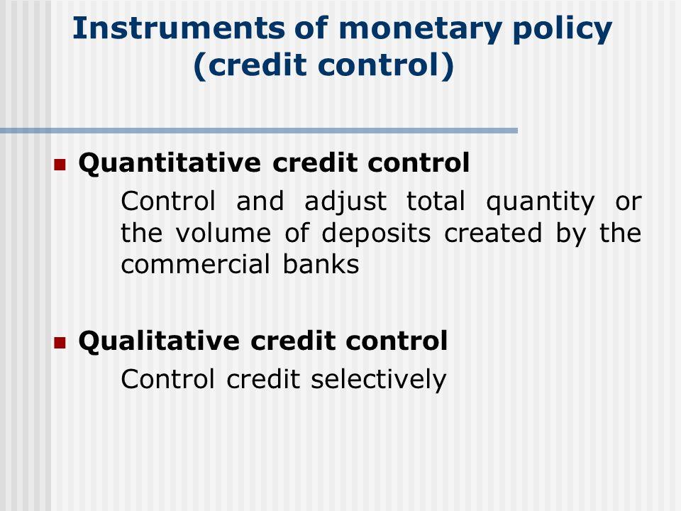 qualitative control