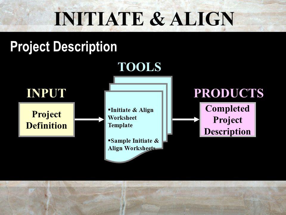 Project Management Process Description Team Mission. 7 Initiate Align Project Definition Worksheet Template Sle Worksheets Pleted Description Input Tools. Worksheet. Project Worksheet Definition At Mspartners.co
