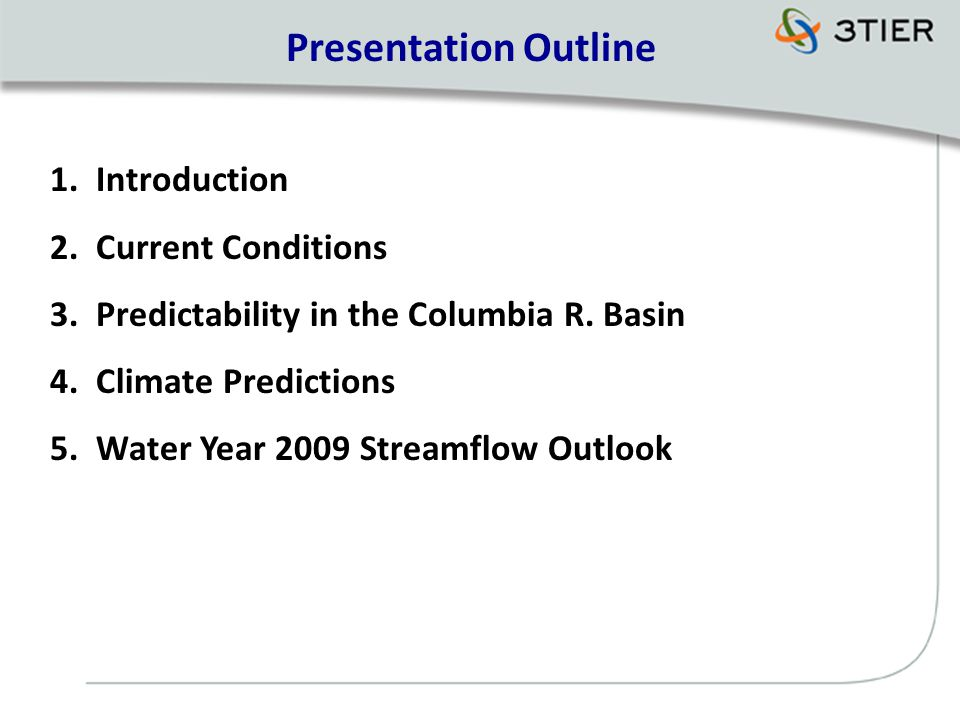 Presentation Outline 1. Introduction 2. Current Conditions 3.