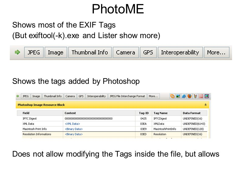 Of Digital Images, EXIF Tags and Privacy Exploring the