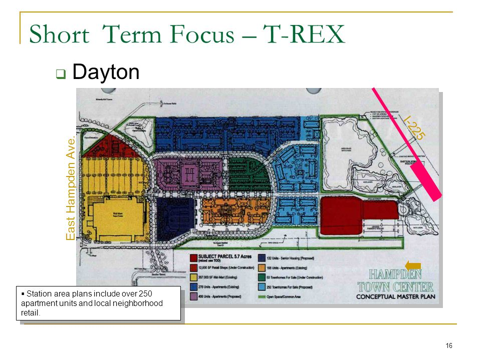 16 Short Term Focus – T-REX  Dayton N East Hampden Ave.