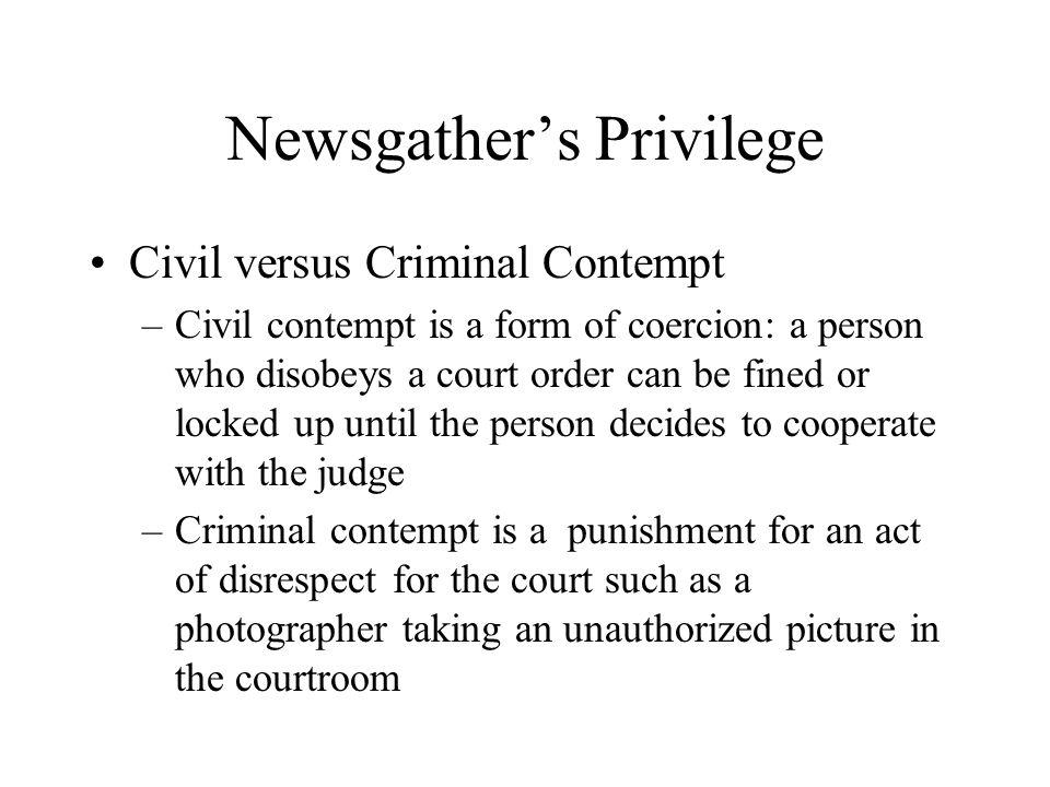 civil vs criminal contempt