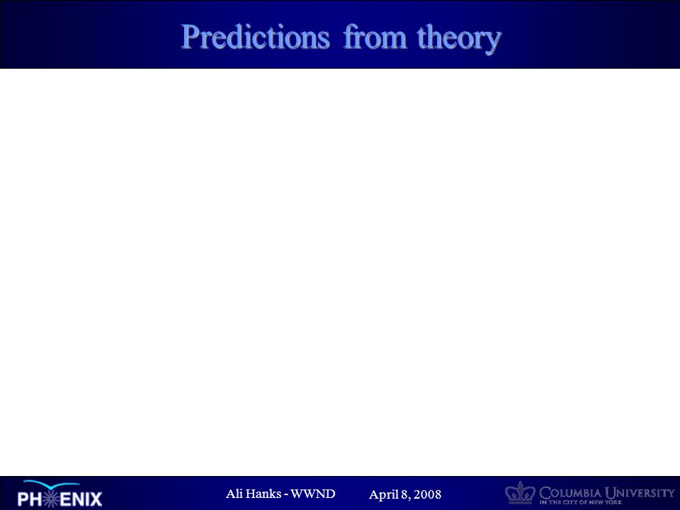 Ali Hanks - WWND April 8, 2008 Predictions from theory