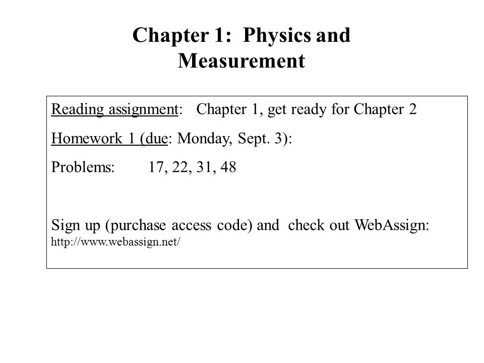 webassign answers physics chapter 2