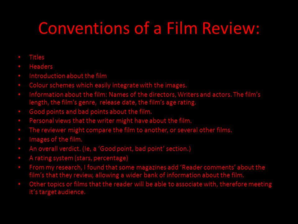film review titles