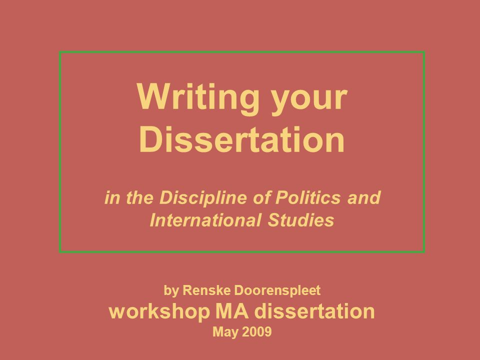 your dissertation research Once you've finished your research and analyses, you can begin working on the results section of your dissertation this is where you present the main findings of your research and answer your research questions or test your hypotheses.