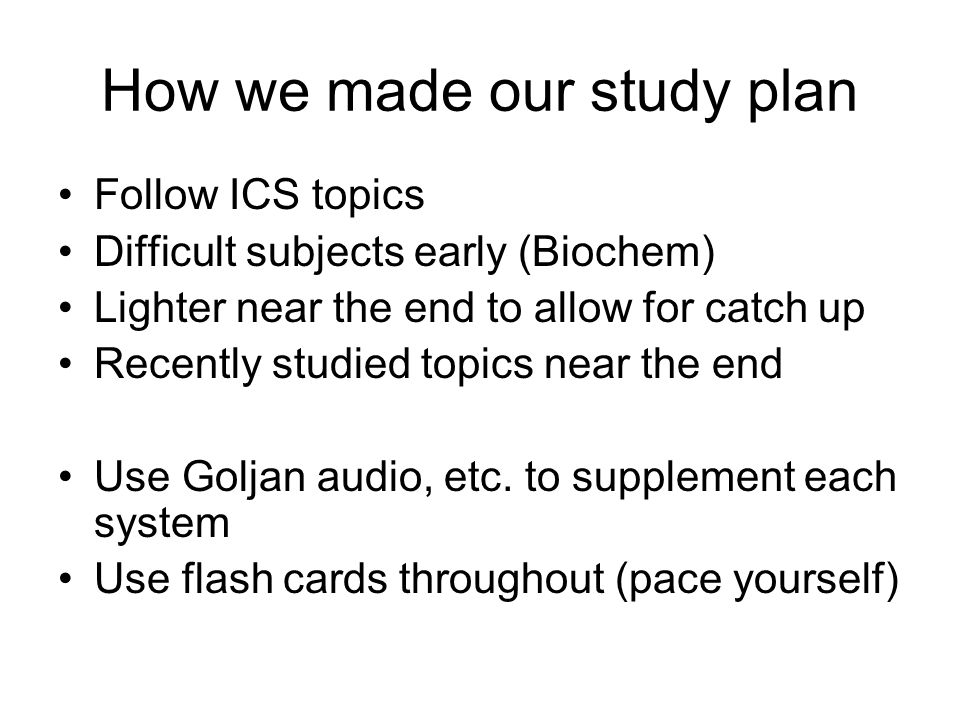 USMLE Step 1 Study Plan Kelsey Richardson MSIII Louis Hirsch
