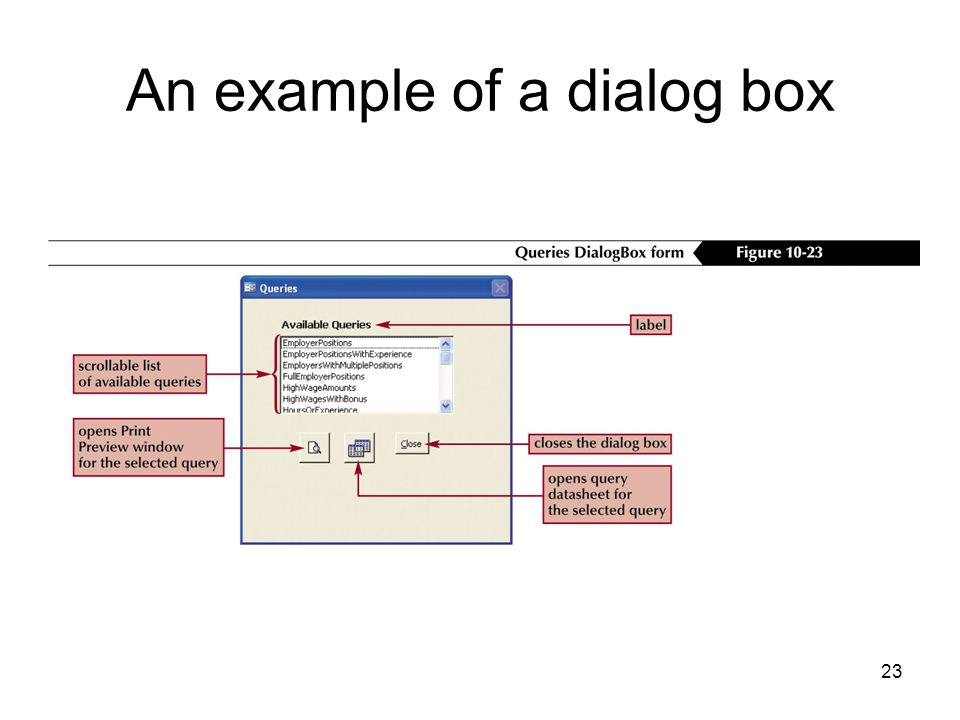23 An example of a dialog box