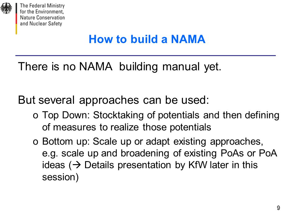 9 How to build a NAMA There is no NAMA building manual yet.