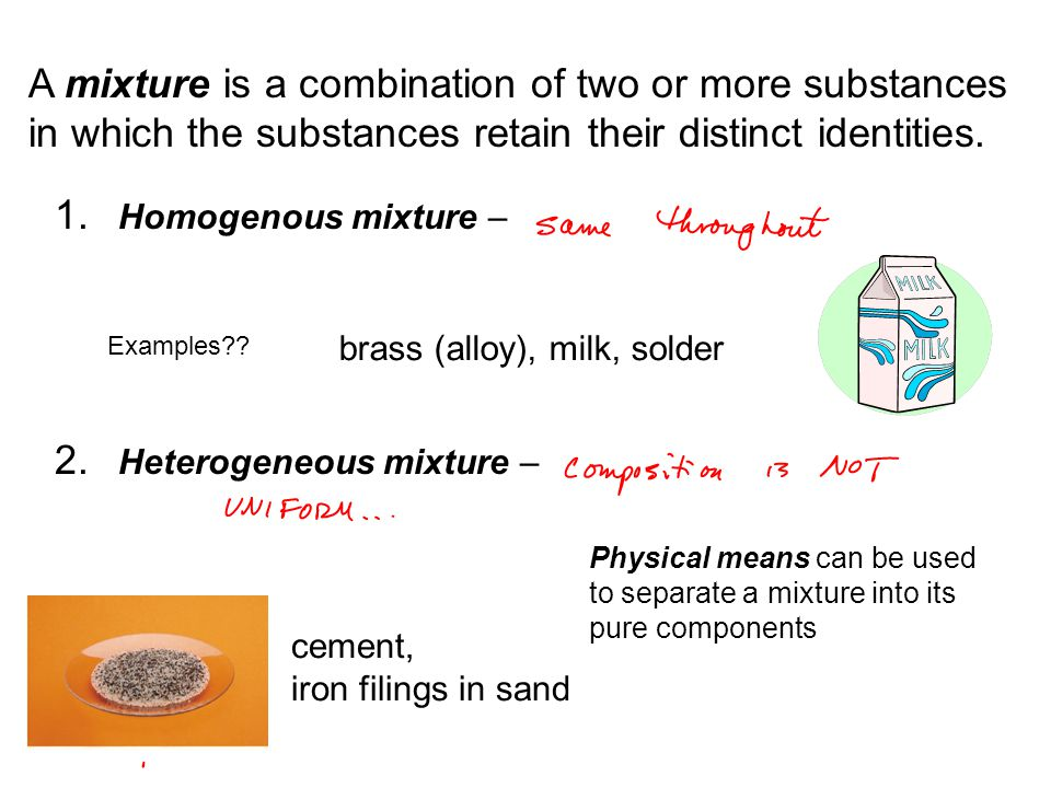 Learning outcomes for Chapter 1 Be able to distinguish between homogenous and heterogeneous mixtures, element and compounds Know how to convert between different units using dimensional analysis (aka factor label method) Be competent handling numbers using scientific notation with the appropriate number of significant figures