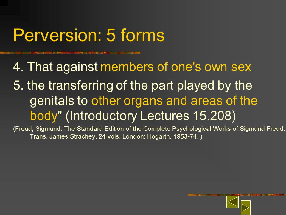 Types of sexual perversion
