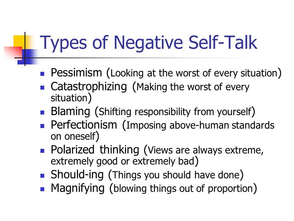 Cognitive Restructuring Presented By Bush Jason Melissa Ppt. 13 Types Of Negative Selftalk. Worksheet. Negative Self Talk Worksheet At Mspartners.co
