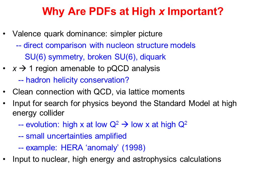 Why Are PDFs at High x Important.