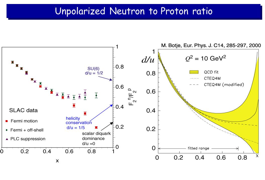 Unpolarized Neutron to Proton ratio