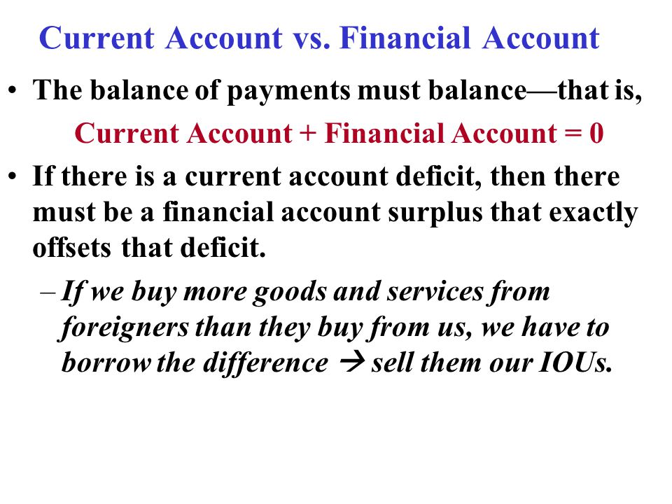 Current Account vs.