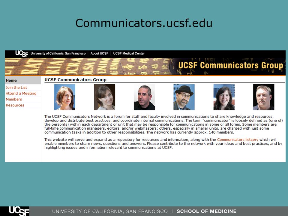 Peer Support for Peanuts: The UCSF Communicators Network