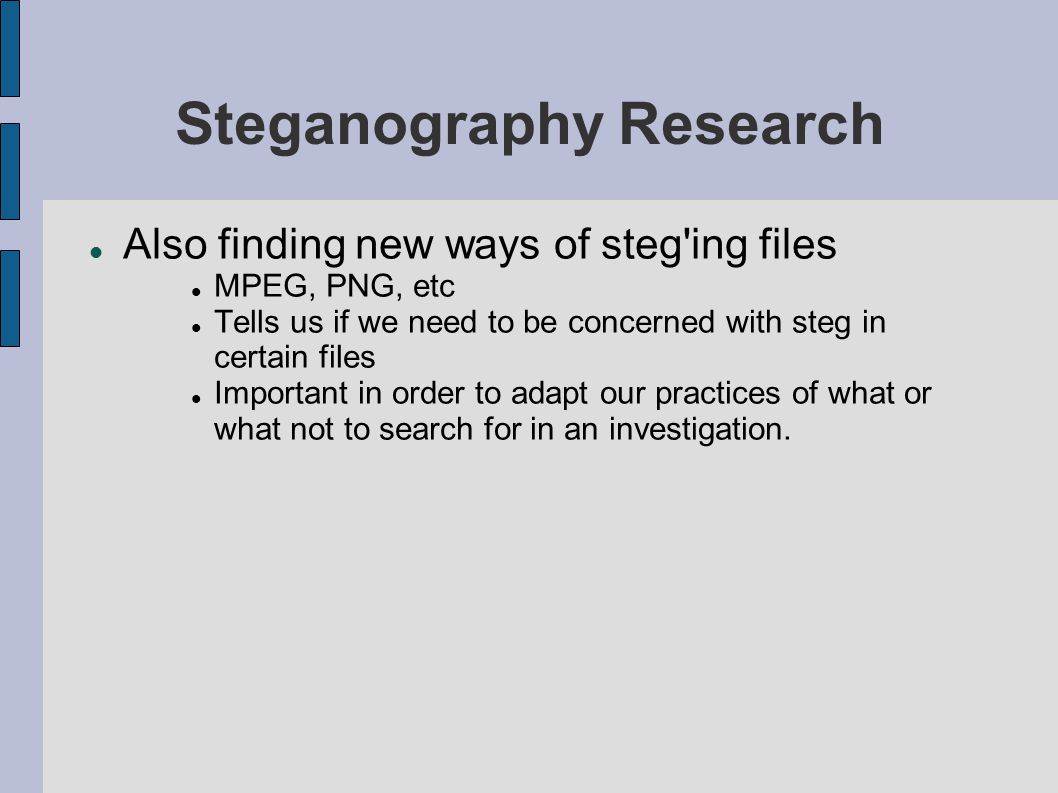 Steganography Part 2 – Detection and Research  Introduction