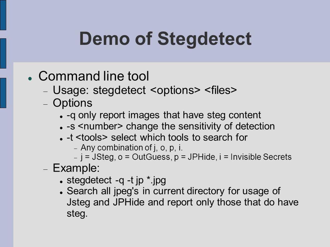 Stegdetect tool