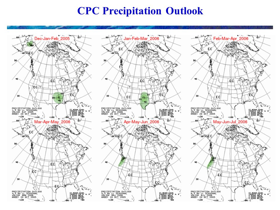 CPC Precipitation Outlook