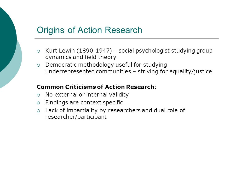 critique of action research methodology