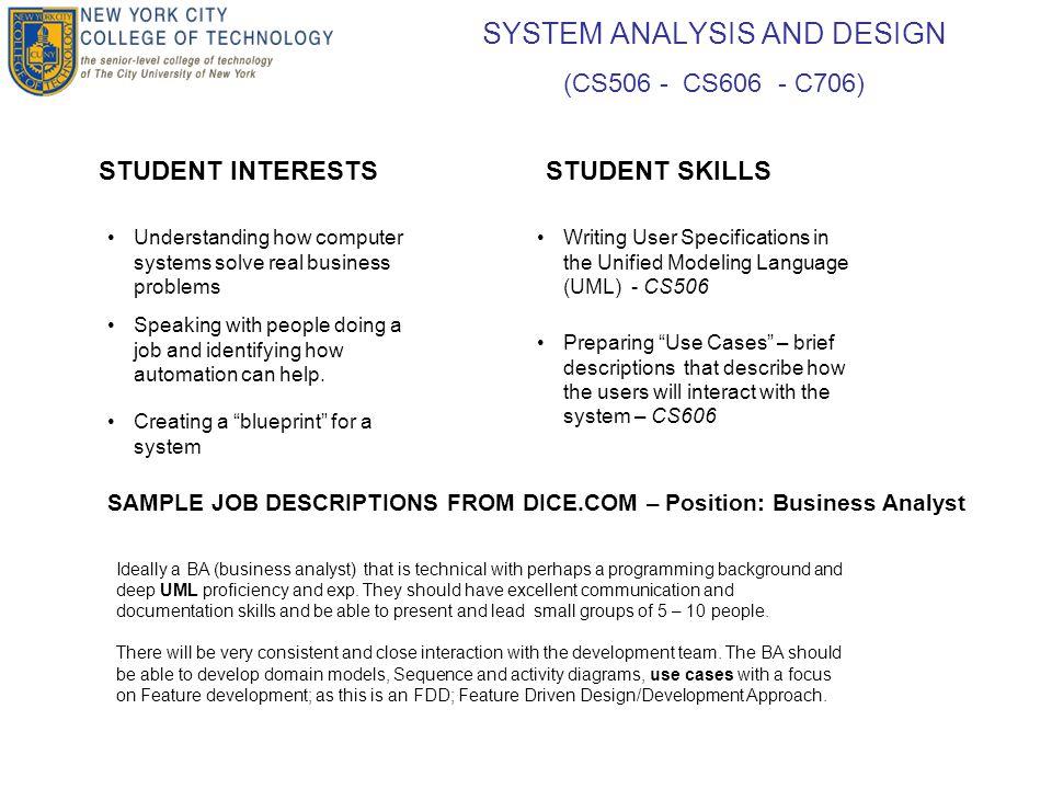 Computer Systems Technology Department Junior And Senior Year Module Descriptions Presenatation Outline 1 Brief Description Of A Typical Application 2 Tasks Ppt Download