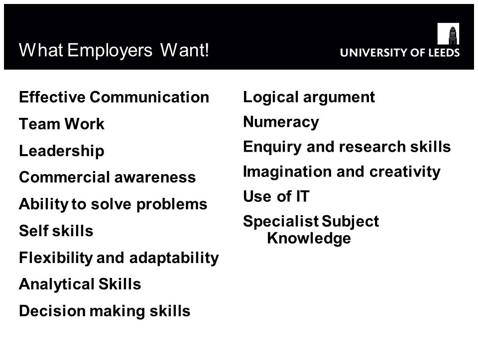 What Employers Want.