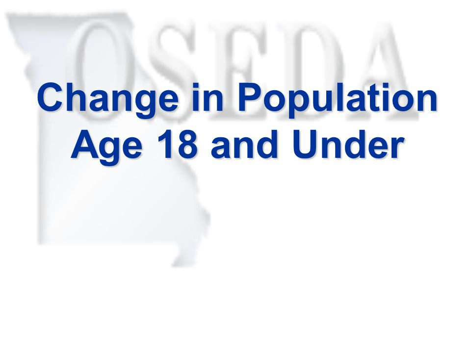 Change in Population Age 18 and Under