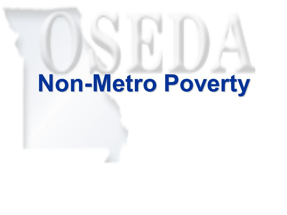 Non-Metro Poverty