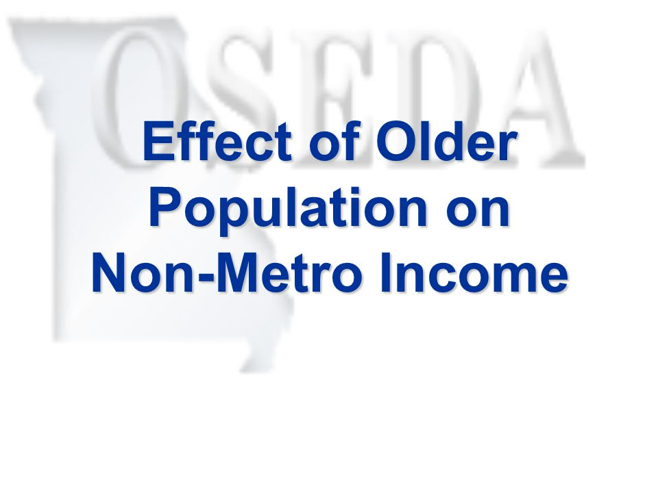 Effect of Older Population on Non-Metro Income