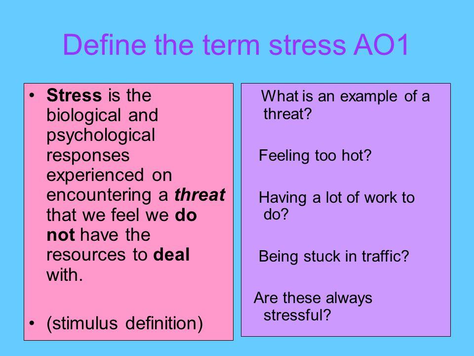 As Module Psya2 Biological Psychology Stress The Biological