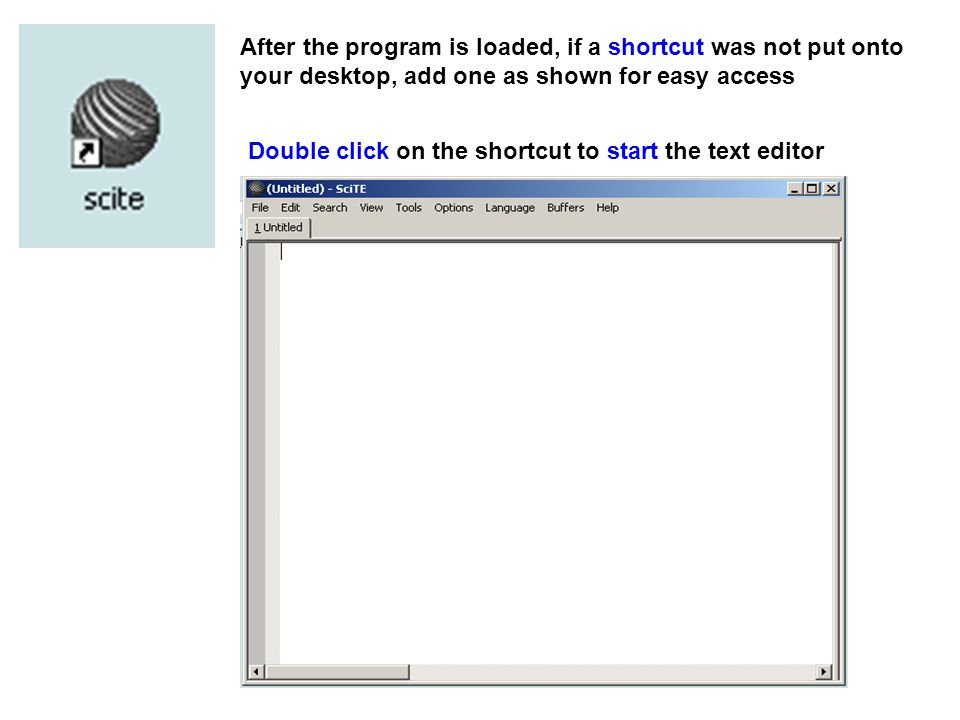 Scite Scintilla integrated text editor  Click here  - ppt download